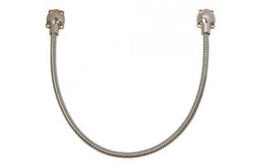 Wąski Metalowy srebrny peszel 50cm DLI7