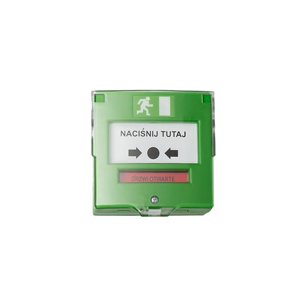 Przycisk wyjścia ewakuacyjny zielony jednostkowy NO/NC