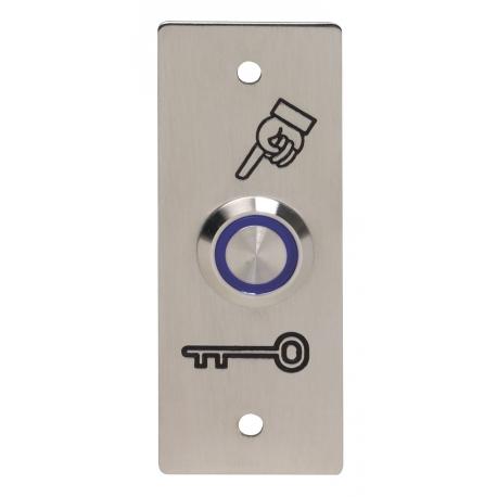 BOPO-I-B przycisk wyjścia podtynkowy, zewnętrzny IP65, podświetlenie NIEBIESKIE styki NO+NC