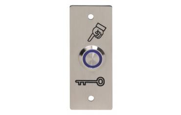 Piezoelektryczny przycisk otwierania drzwi, stal nierdzewna INOX, ZEWNĘTRZNY podświetlenie niebieskie BOPO-I-B