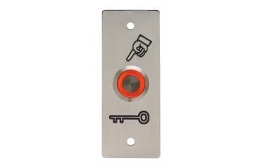 BOPO-I-R zewnętrzny IP65, przycisk podtynkowy, 2 stykowy INOX czerwony