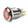 BOPO-P-R sam przycisk zewnętrzny, podświetlenie CZERWONE, IP65, 2 stykowy INOX