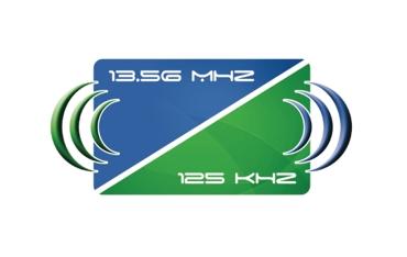MIFARE &UNIQUE Karta dualna biała z numerem 13,56MHz &125kHz