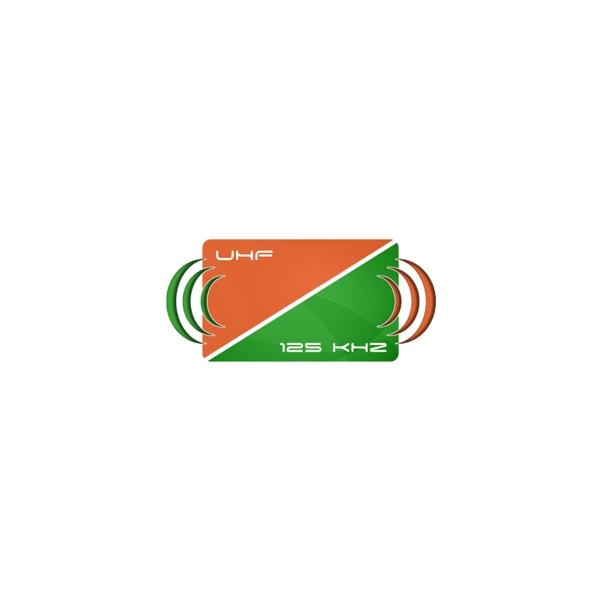 UNIQUE &UHF Karta dualna biała z numerem 125kHz & 866MHz