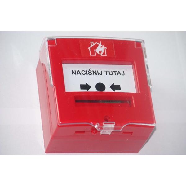 4714RC hermetyczny przycisk, 2 stykowy awaryjnego otwarcia drzwi, IP65, czerwony + osłonka Katalog Produkty
