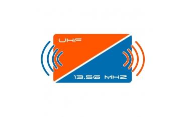 MIFARE & UHF Karta dualna biała z numerem