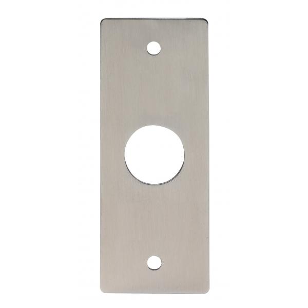 Piezoelektryczny przycisk otwierania drzwi, stal nierdzewna INOX, bez oznaczeń, ZEWNĘTRZNY, bez podświetlenia, BOPO-I-No
