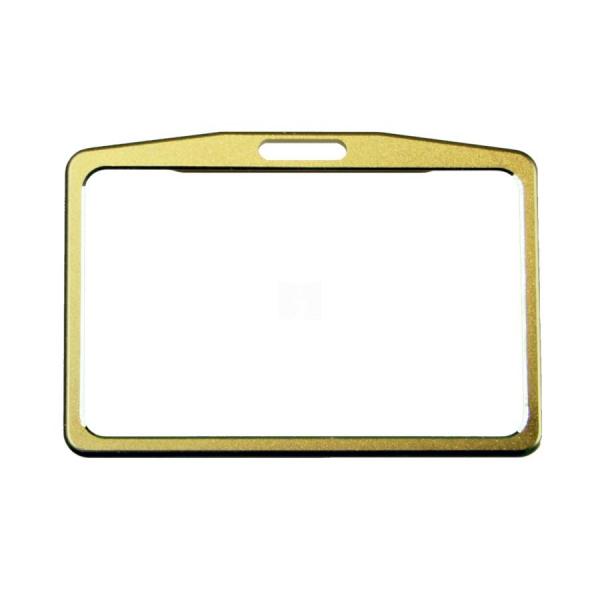 ETUI na kartę zbliżeniową kolor złoty, poziome